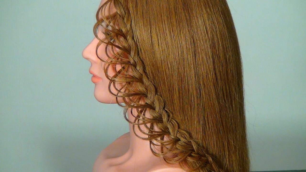 ажурные косы на длинные волосы