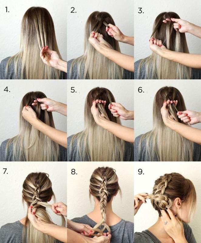 прически из кос на средние волосы своими руками