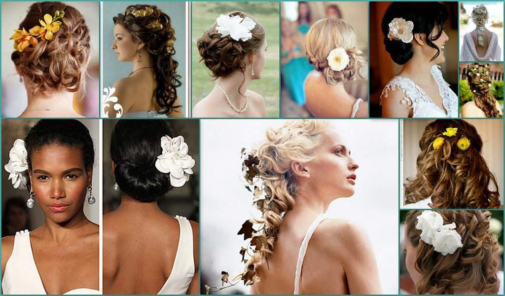Отличный набор вариантов свадебной прически