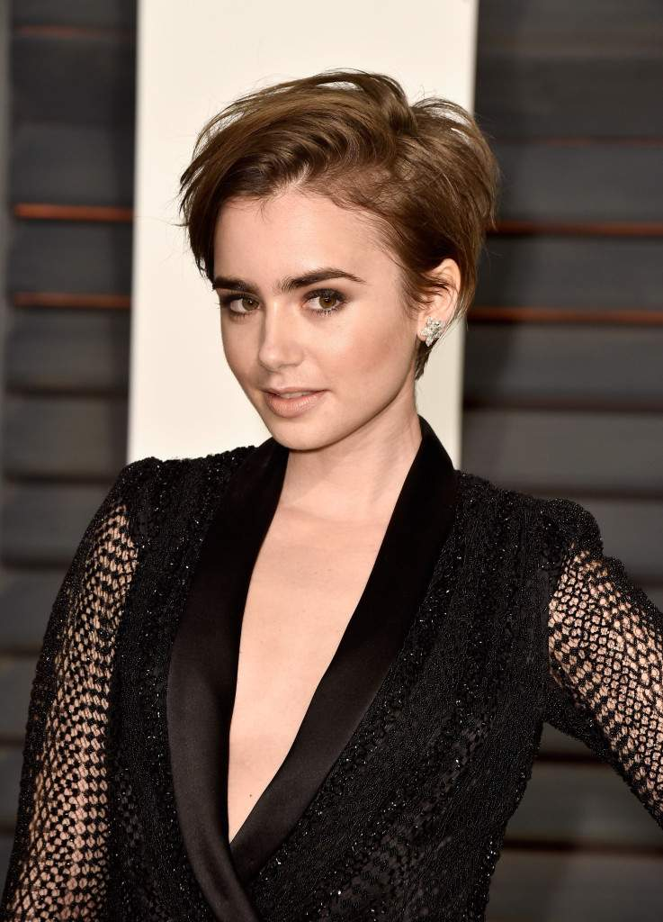Лили Коллинз: Feb 2015 Vanity Fair Oscars Party