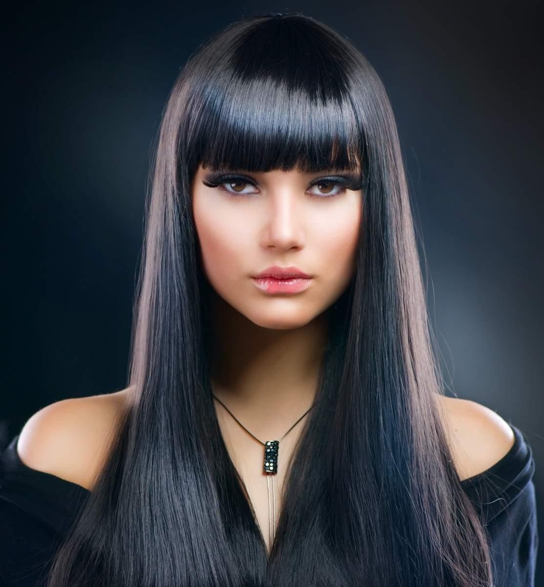 Объем на прямых волосах