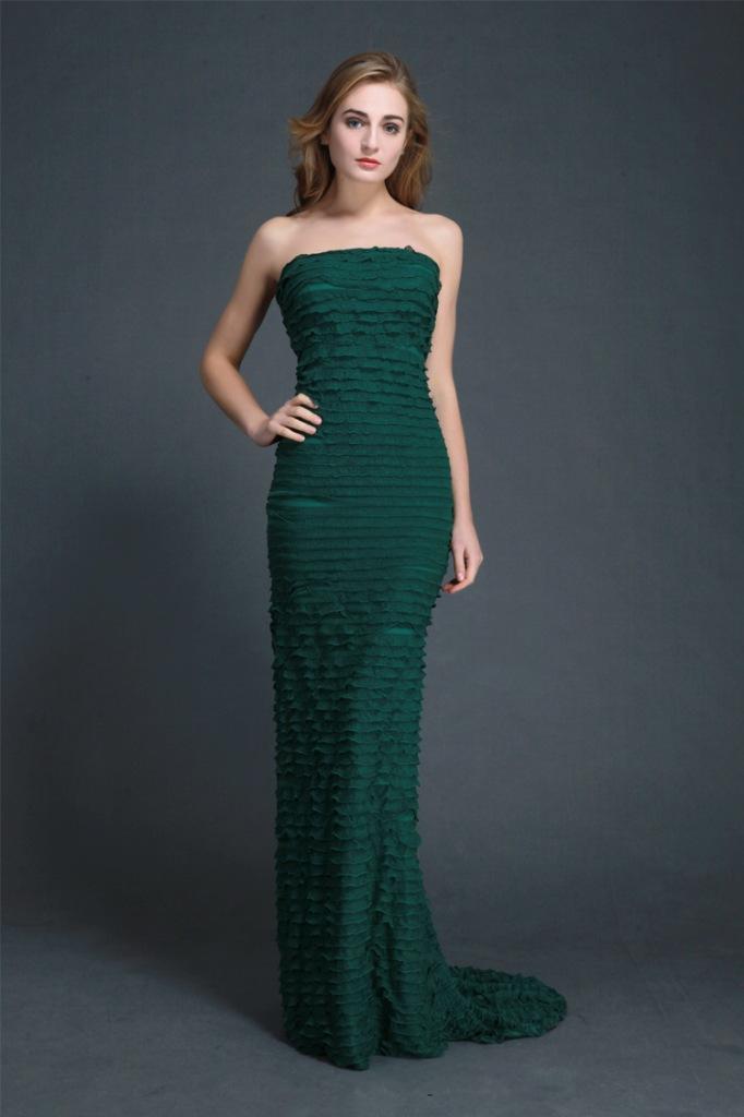 зеленое платье рыбий хвост