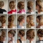 Плетение кос с лентой - фото