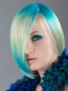 Колорирование светлых волос в один цвет с переходами