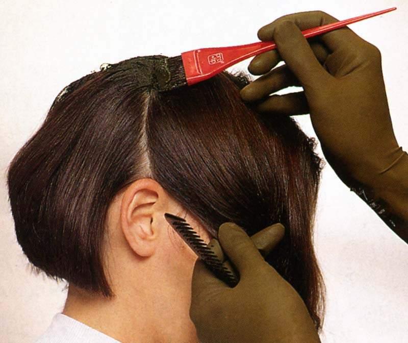 Окрашивание волос: Техника окрашивания волос