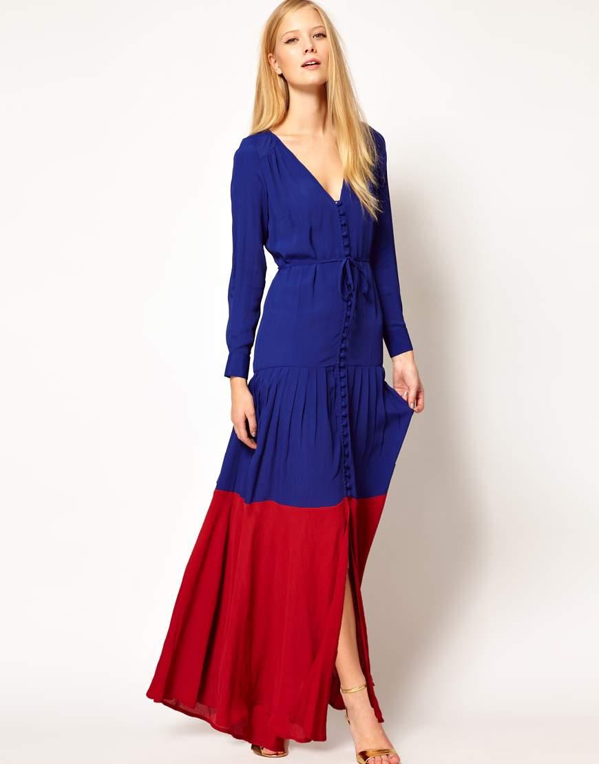 Легкий вариант макси-платья в кантри-стиле.