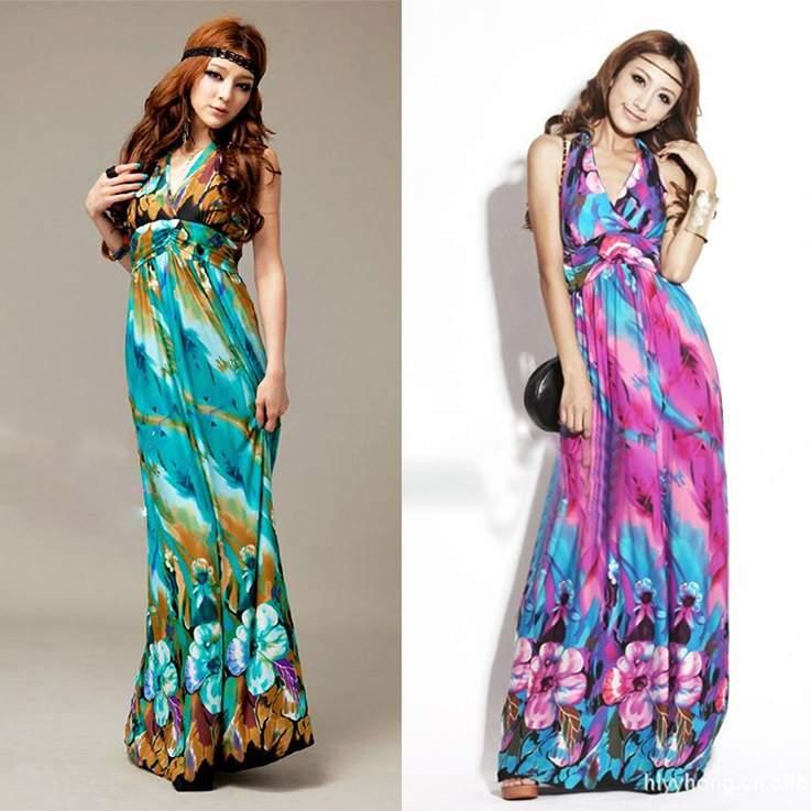 Отличное макси-платье в стиле бохо.