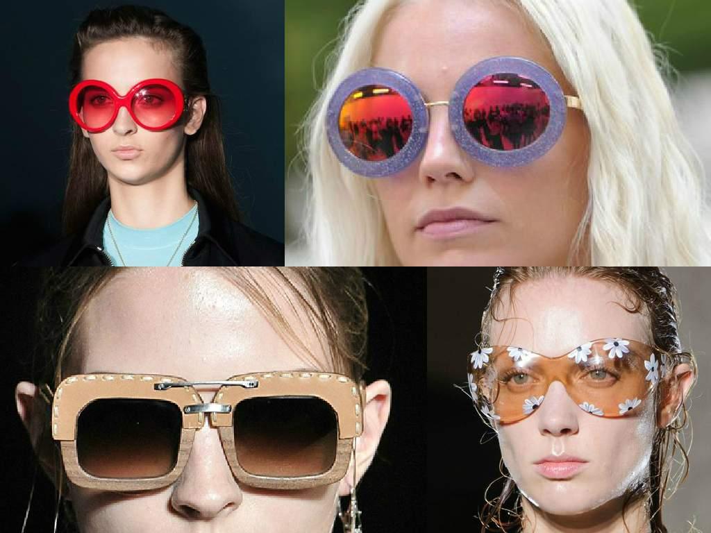 солнечные очки синего цвета