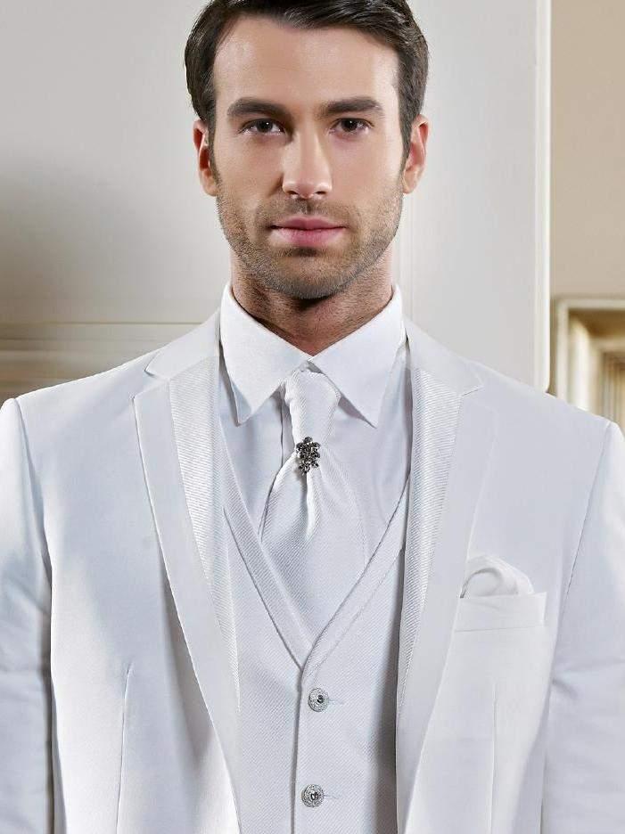 ультра-белый костюм тройка