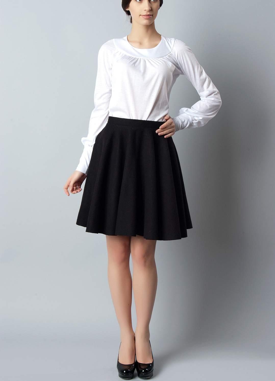 юбка клеш в школу