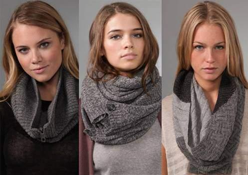 Как носить шарф снуд