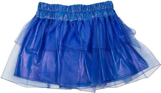 Как носить синию юбку