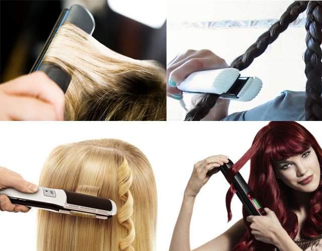 Фото: способы завивки волос утюжком