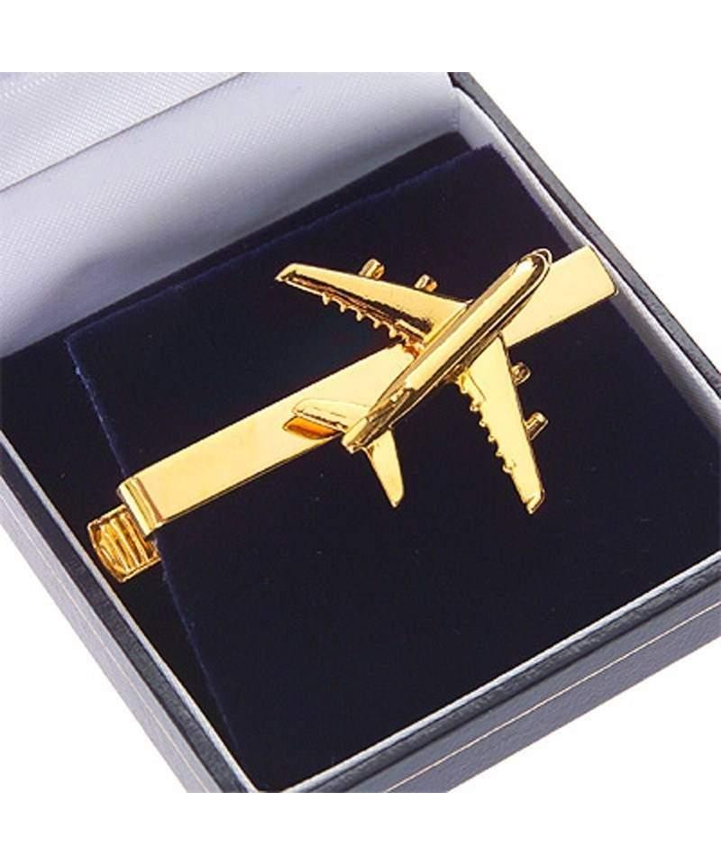 Зажим для галстука с самолетом