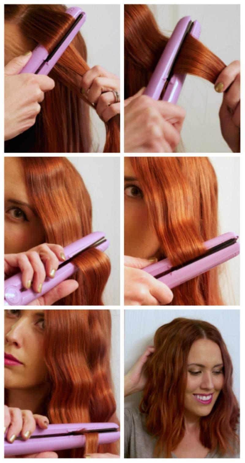 Укладка утюжком на средние волосы в домашних условиях 348