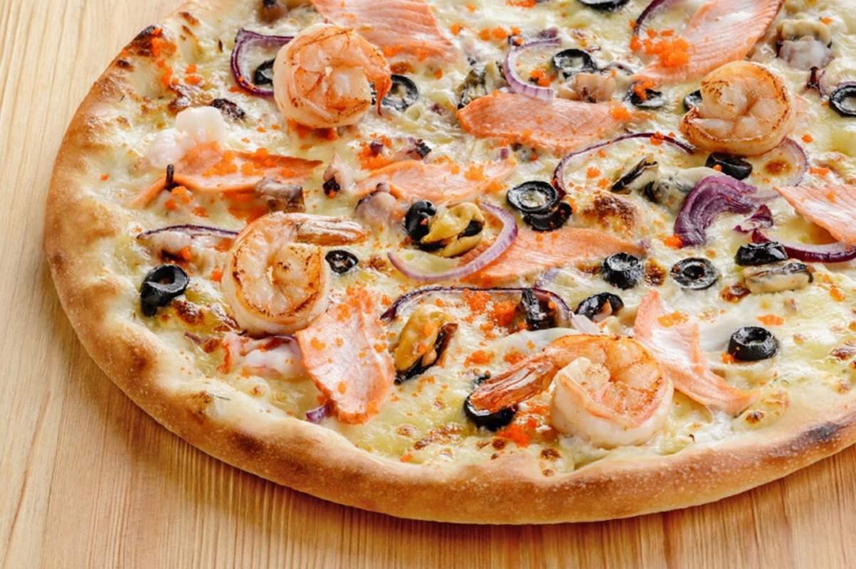 Начинка для пиццы из морепродуктов в домашних условиях